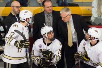 Photo of WMU Bronco hockey.