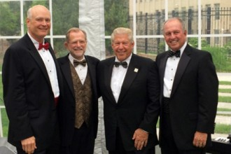Photo of Dr. Hal Jenson, Dr. John Dunn, William Johnston and Ken Miller.