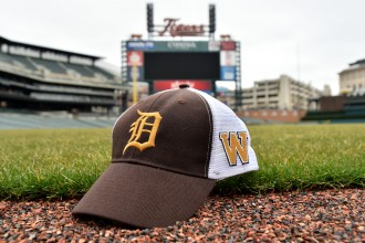 Photo of a Detroit-WMU hat.