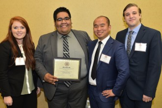 WMU's winning Beta Alpha Psi team: Kaitlyn Watkins, Roberto Ramon-Flores, Shao Qin Ga and Tim Belcher.