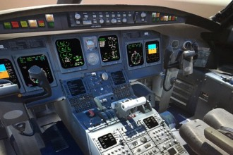 3D airplane cockpit.