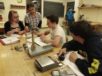 Physics laboratory exercises offer hands-on learning