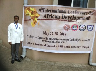 ICAD conference banner in Ethiopia
