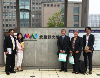 WMU delegation at Japan university