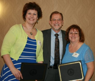 Tammi Smith, Dr. John Dunn and Mary Lou Brooks