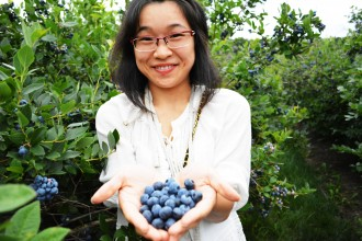 International Student Activities plans events on-campus and in the community like blueberry picking.