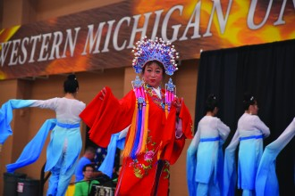 A photo of a performer at WMU's annual China Festival.