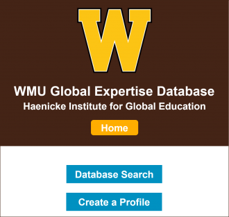 Decorative image of home screen of Global Expertise Database