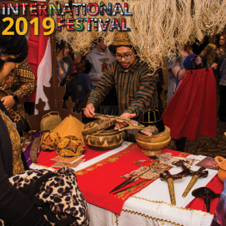 Indonesian booth at the 2019 International Festival
