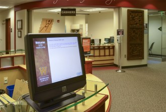 photo of self-check-in kiosk