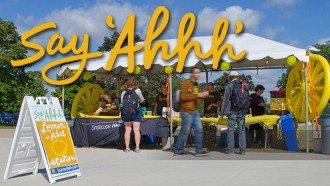 photograph of Say Ahhh event tent