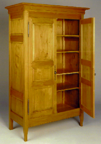 Brad Smith. Armoire from western red alder.