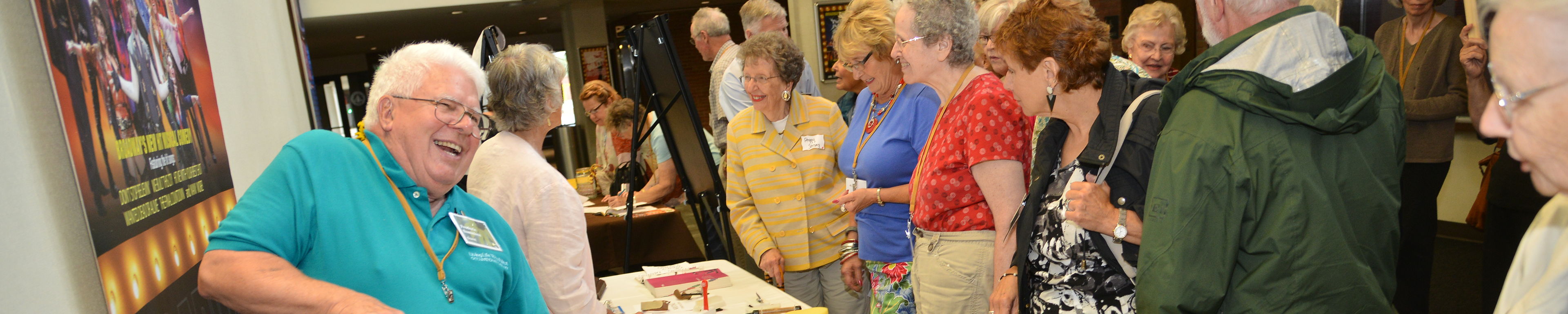 Page banner: OLLI at WMU members attend an event