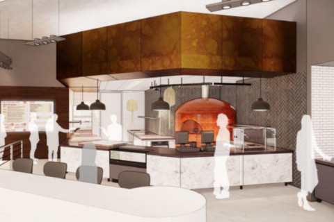 Rendering of MiPi - new pizza retail food option