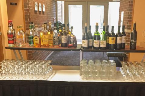 Bar set up at the Fetzer Center