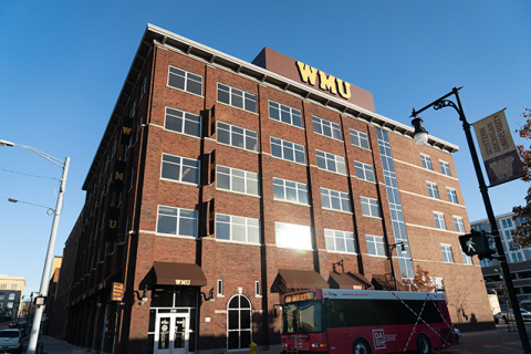 200 Ionia Building that houses WMU-Grand Rapids and the AMP Lab at WMU