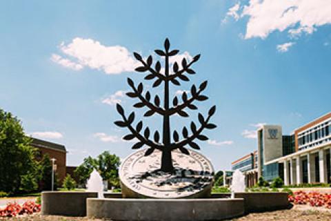Image of WMU Statue on Campus circle