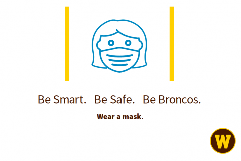 A sign telling people to wear a mask.