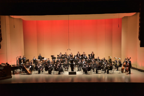 orchestra on a stage