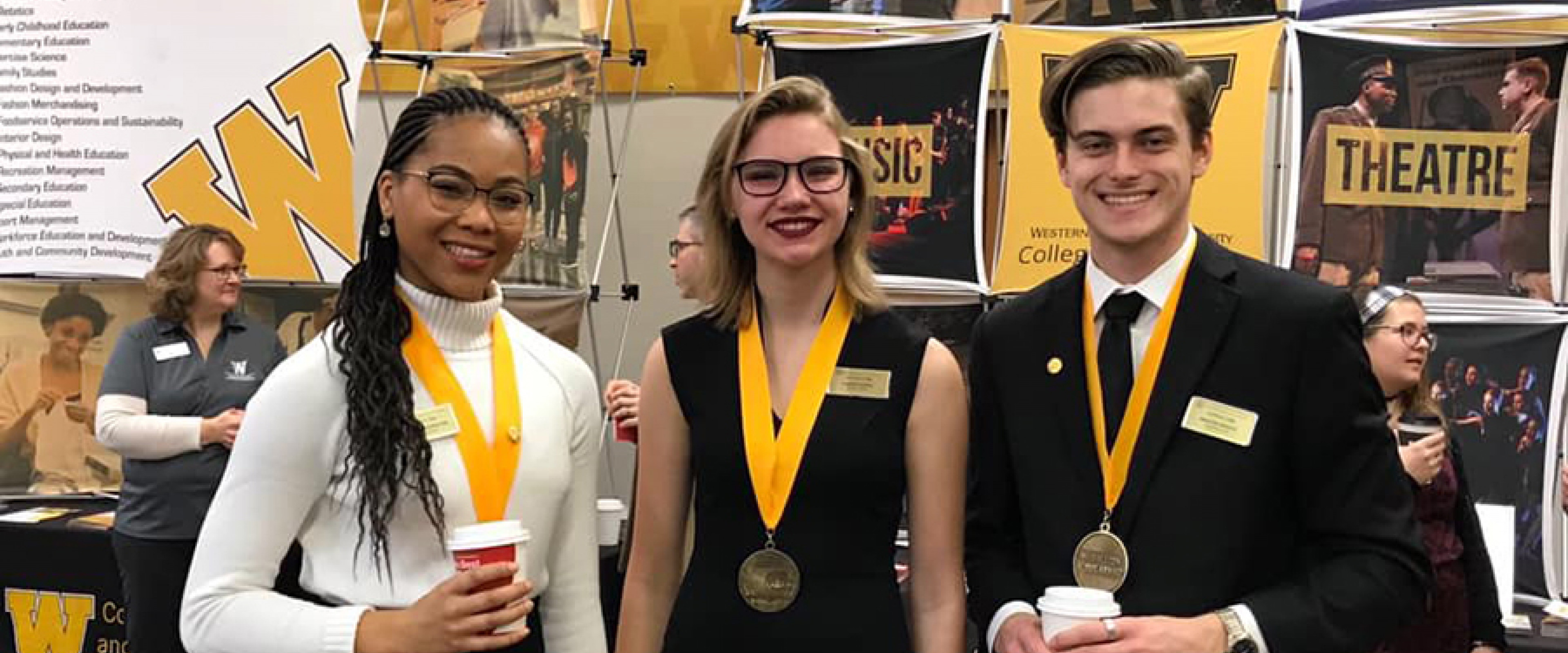 Medallions at the 2018 competition.