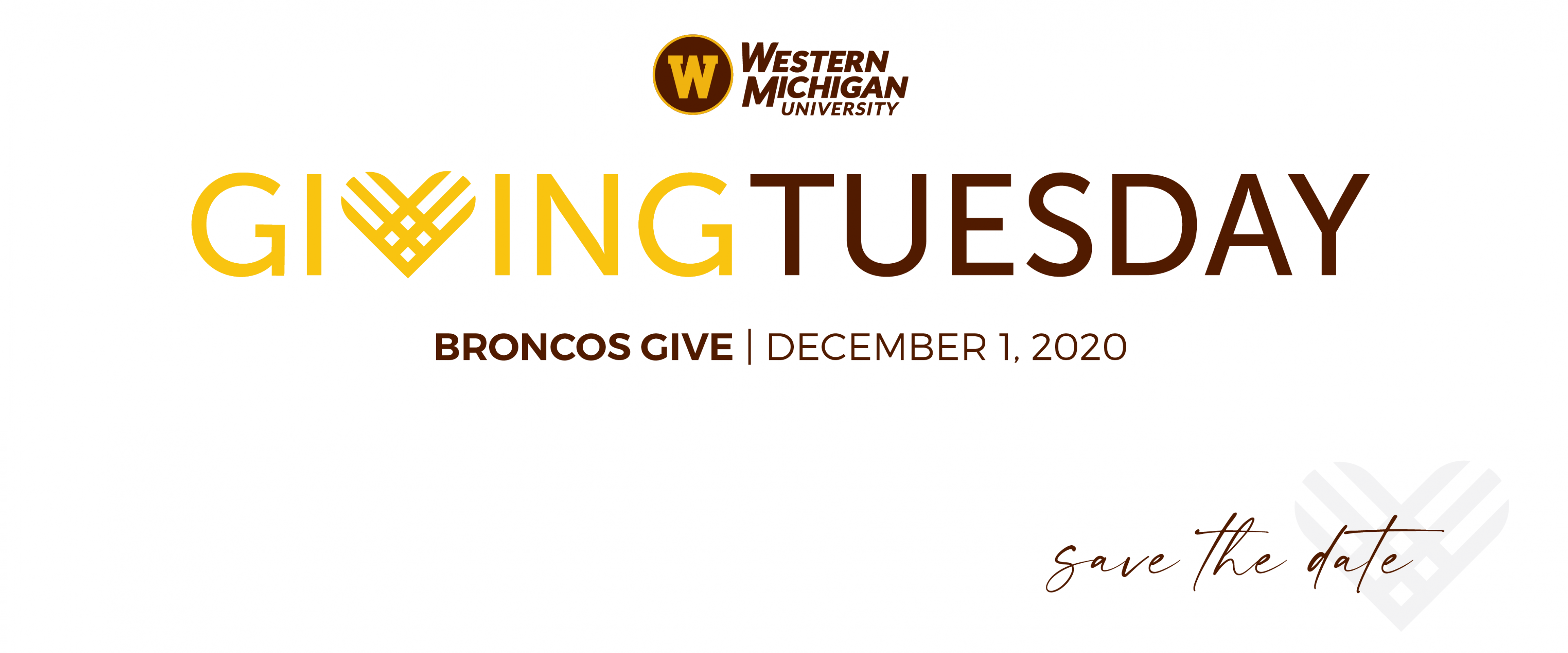 Graphic that says Giving Tuesday, Broncos Give, Dec. 1, 2020, save the date