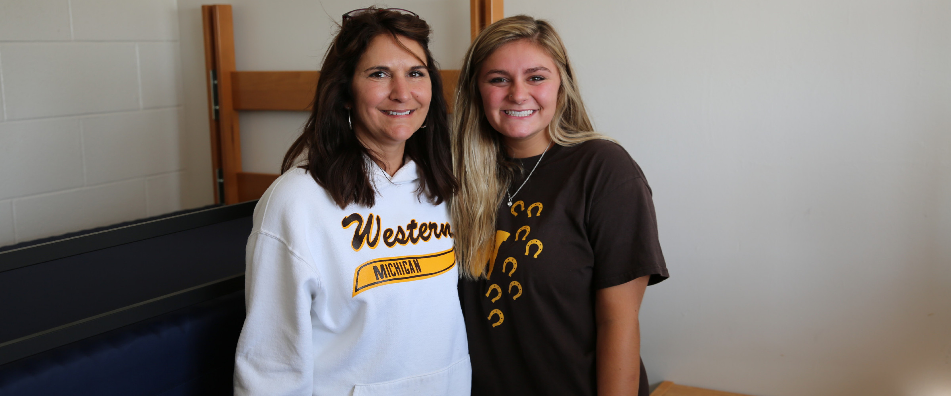 WMU student with parent