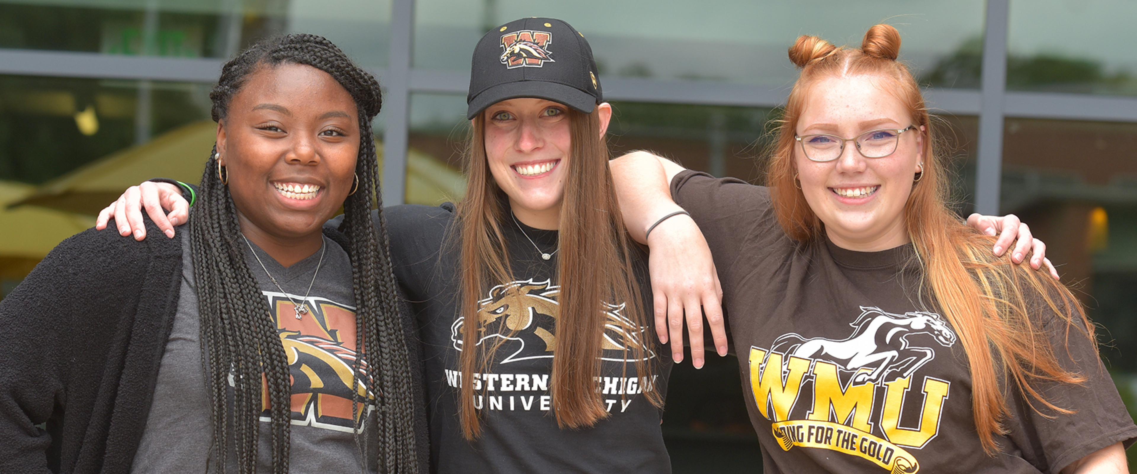 WMU Students outside
