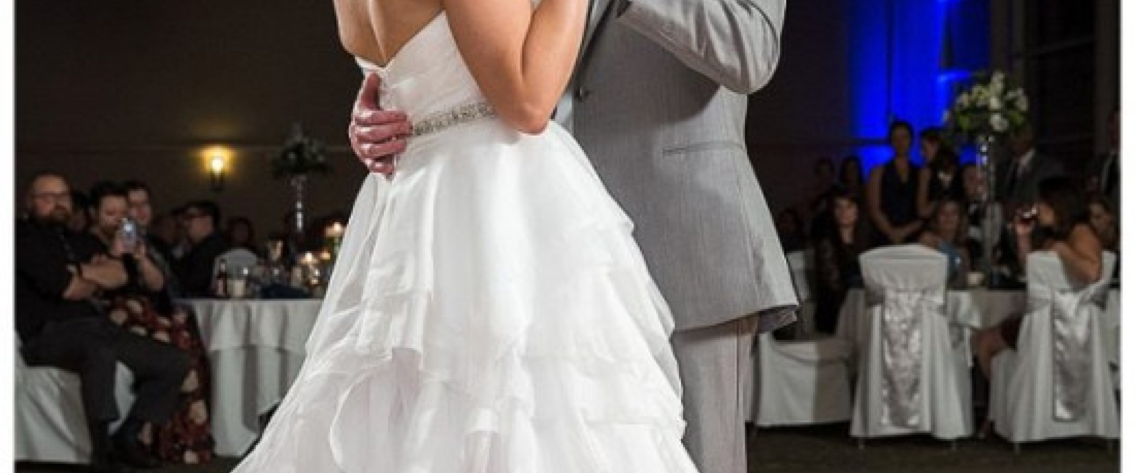 Couple dancing on the dance floor at their wedding