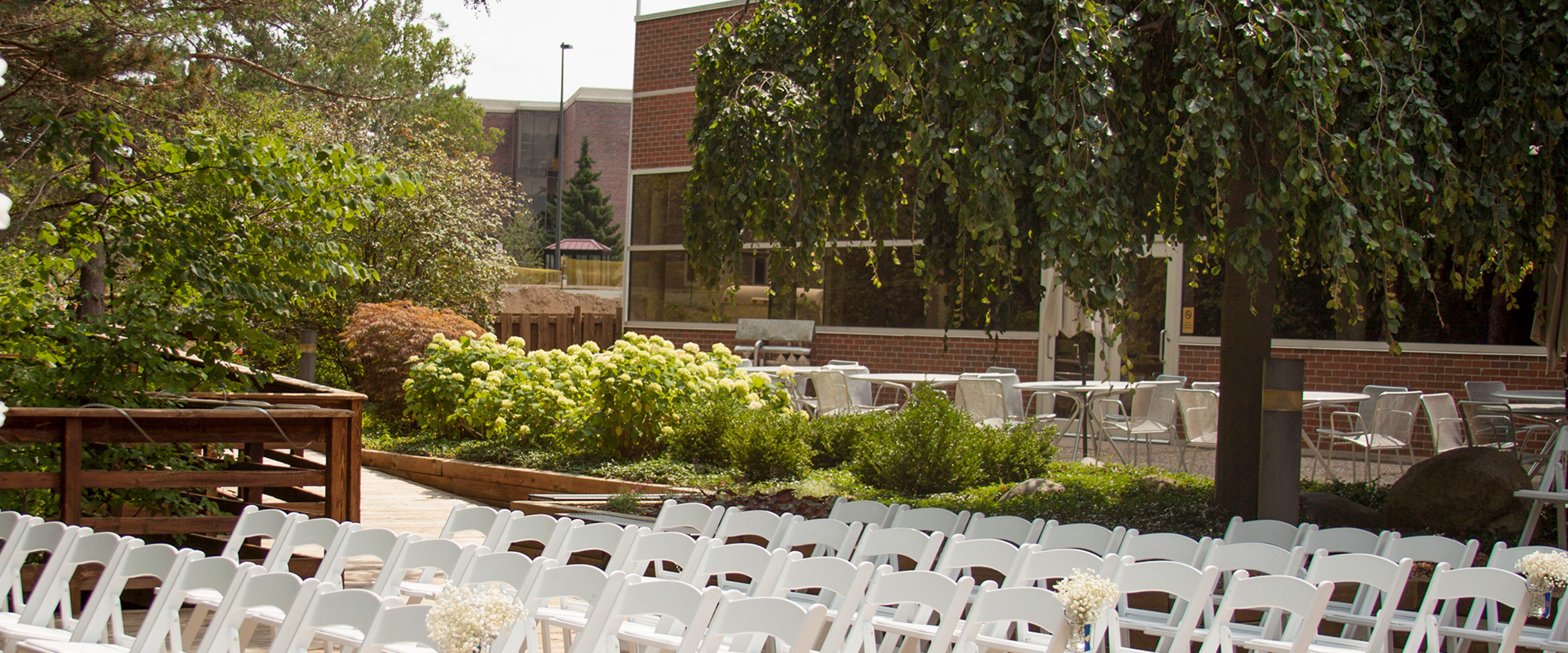 Fetzer patio set up for an audience