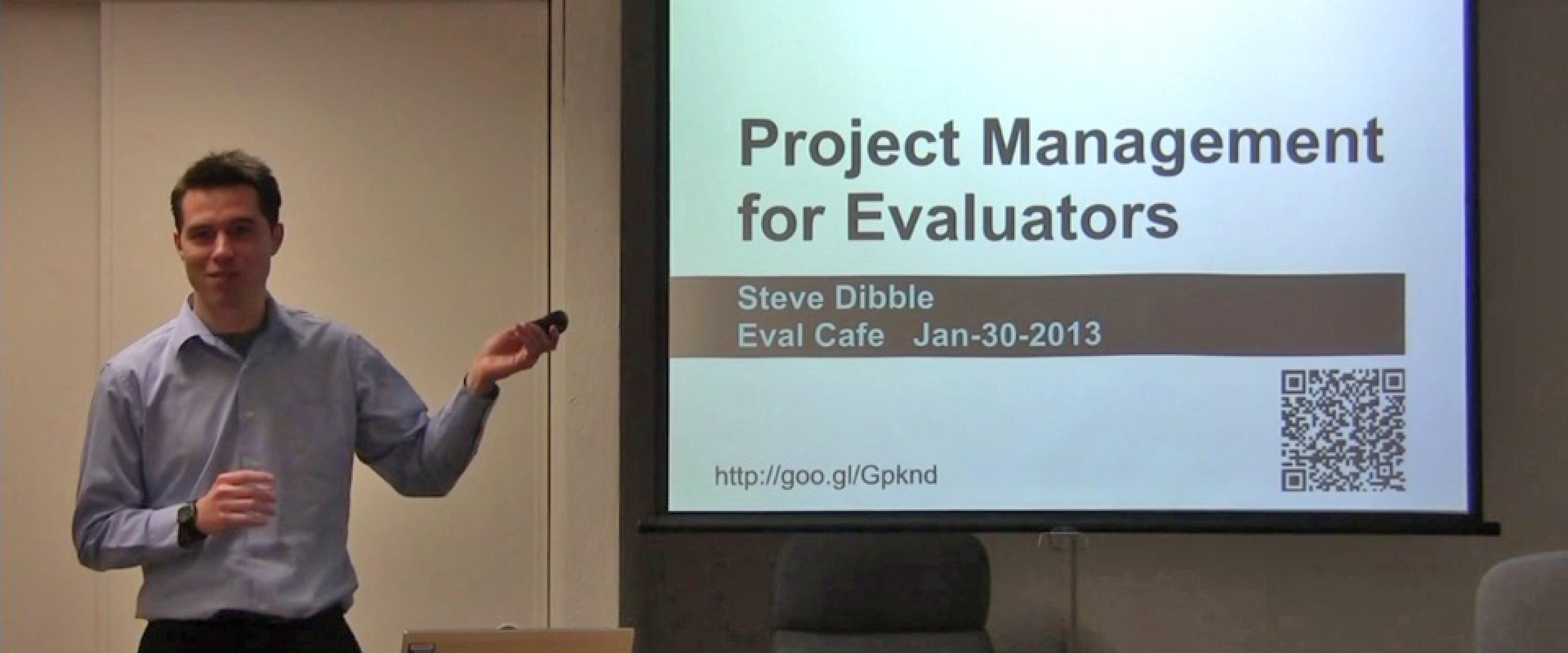 Steven Dibble giving presentation.