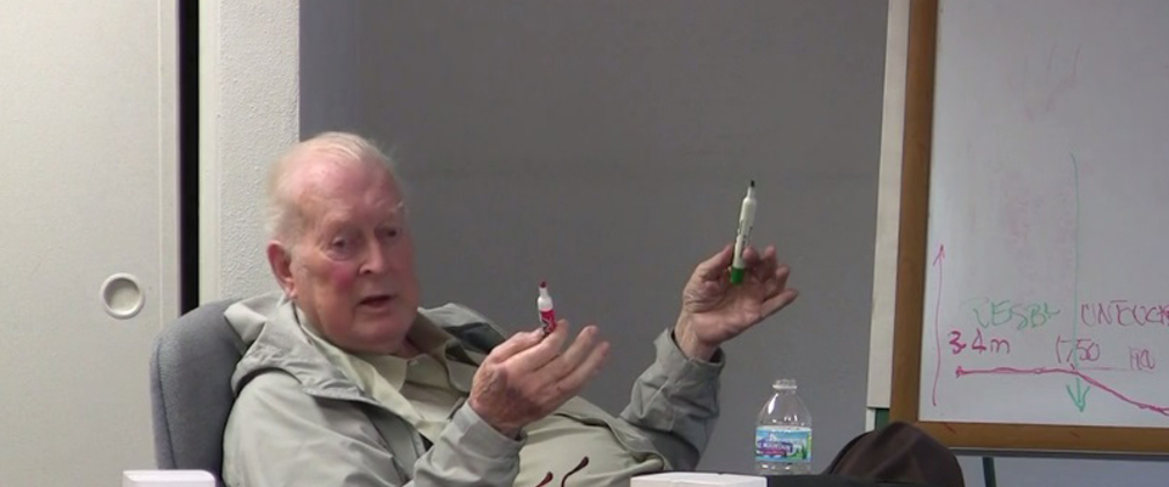 Dr. Michael Scriven speaking.