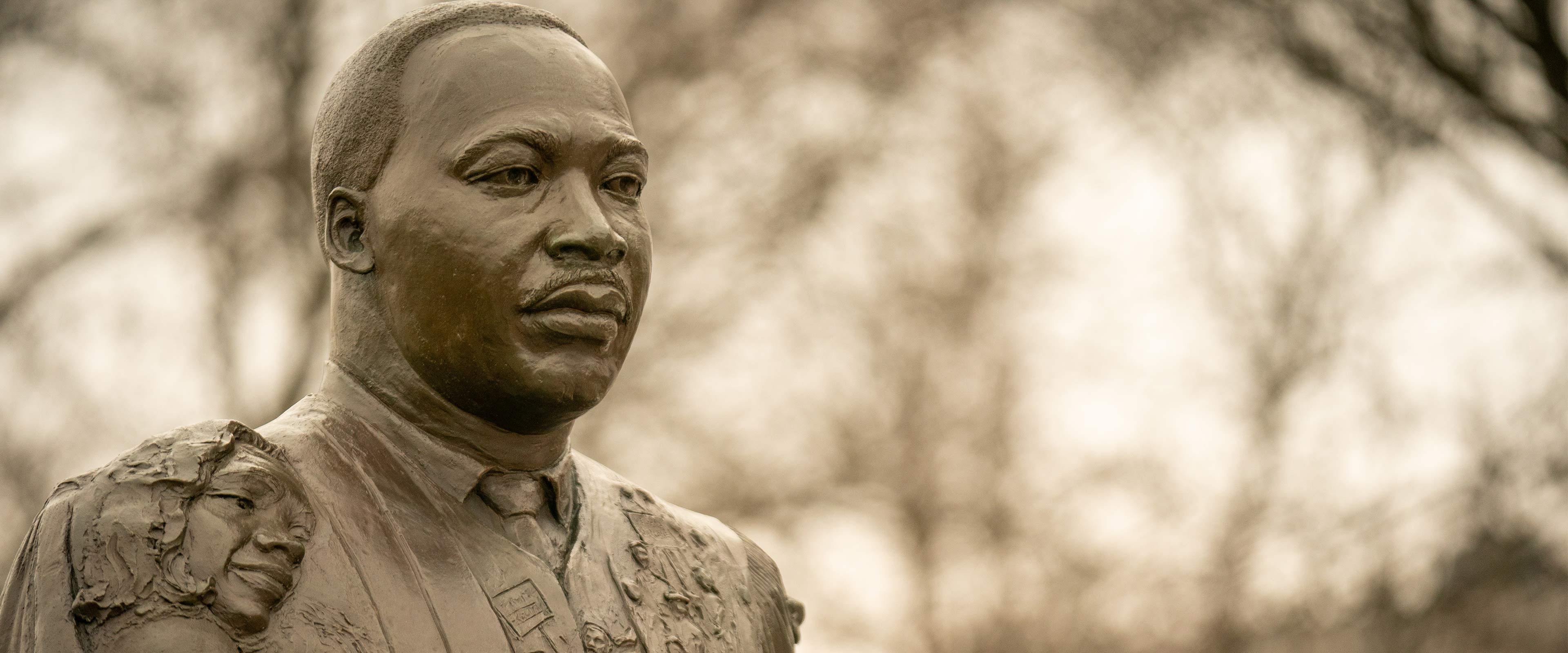 The Martin Luther King Jr. statue in downtown Kalamazoo.