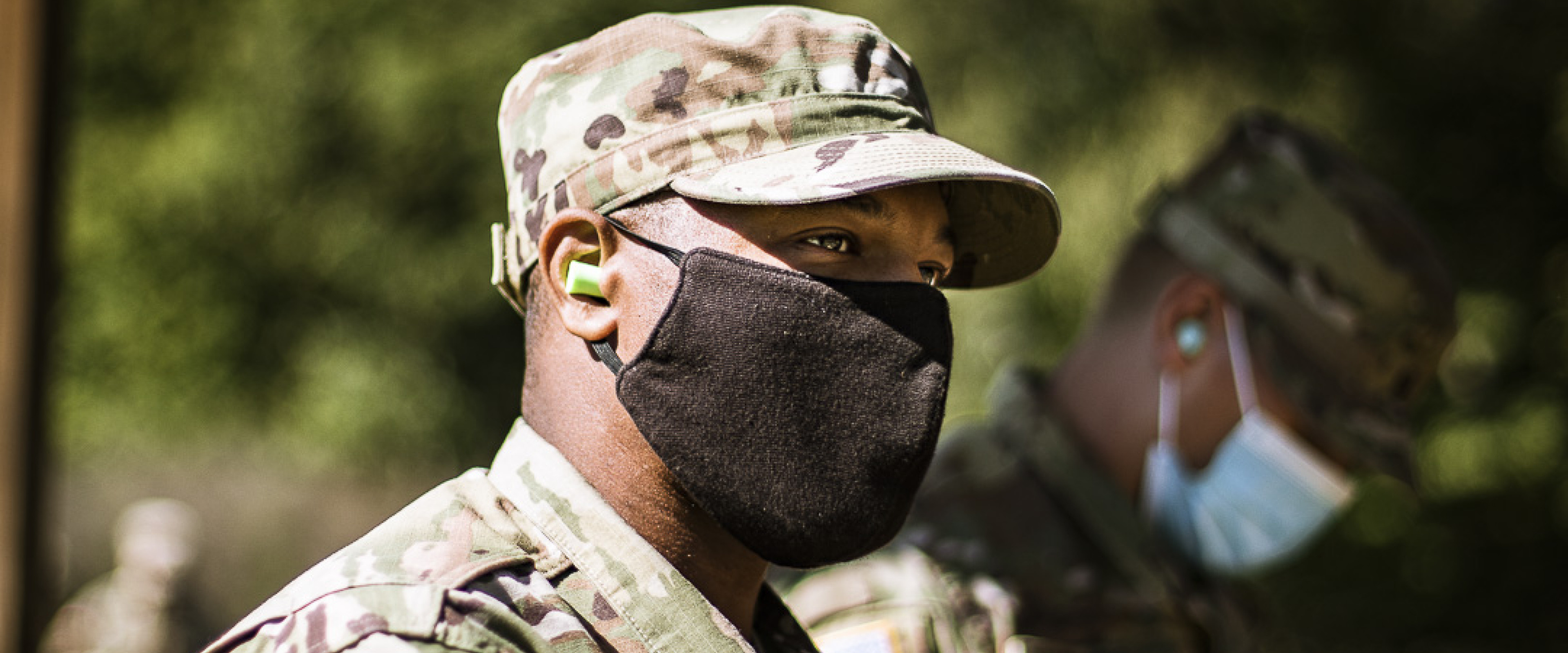 Cadet with mask