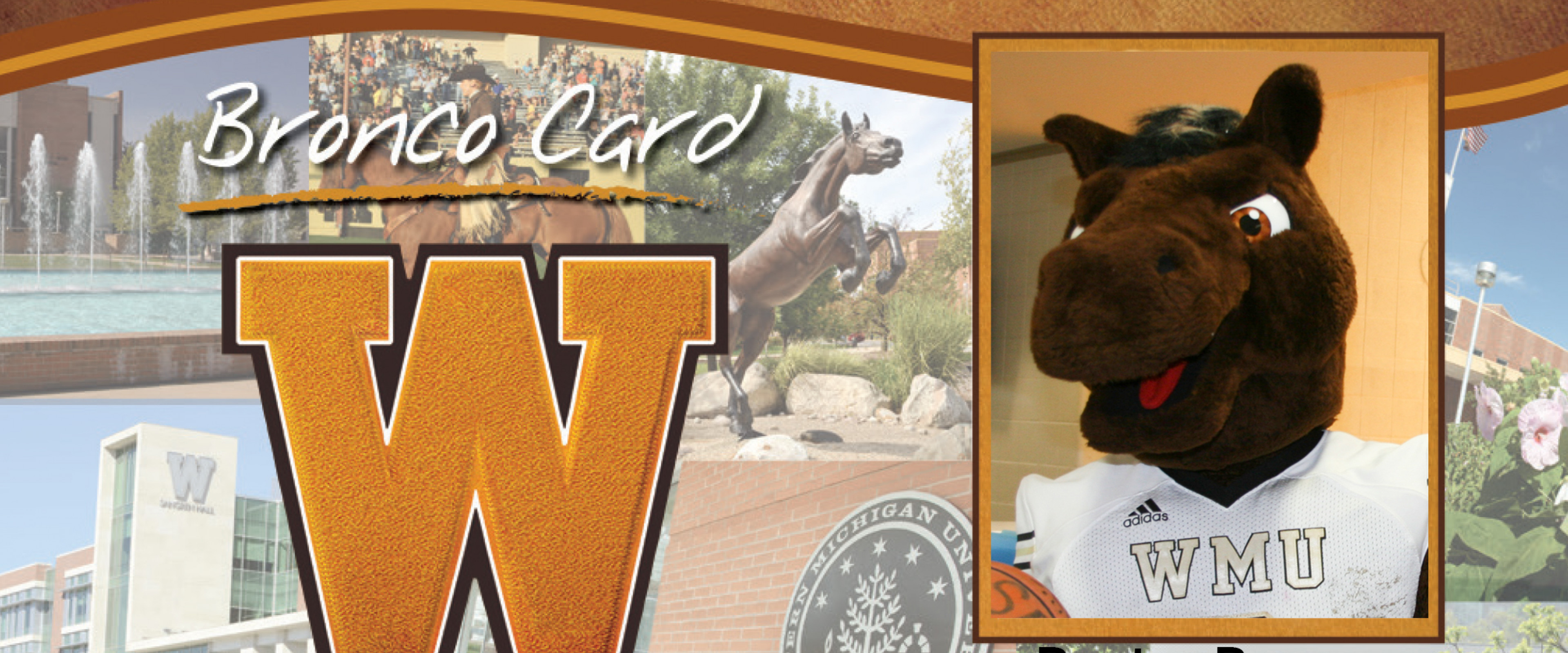 Bronco Card with Buster's photo represented in it