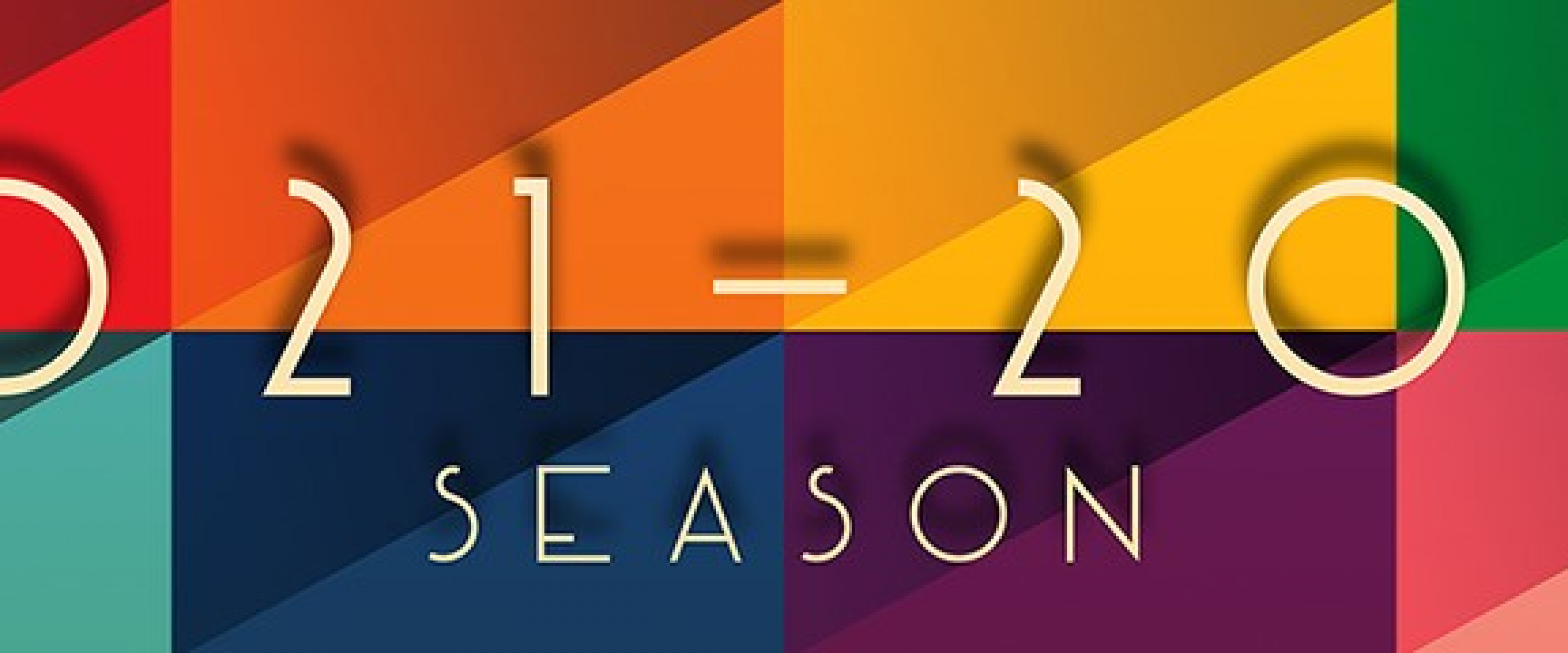 Rainbow colors with 2021-2022 Season in graphic.
