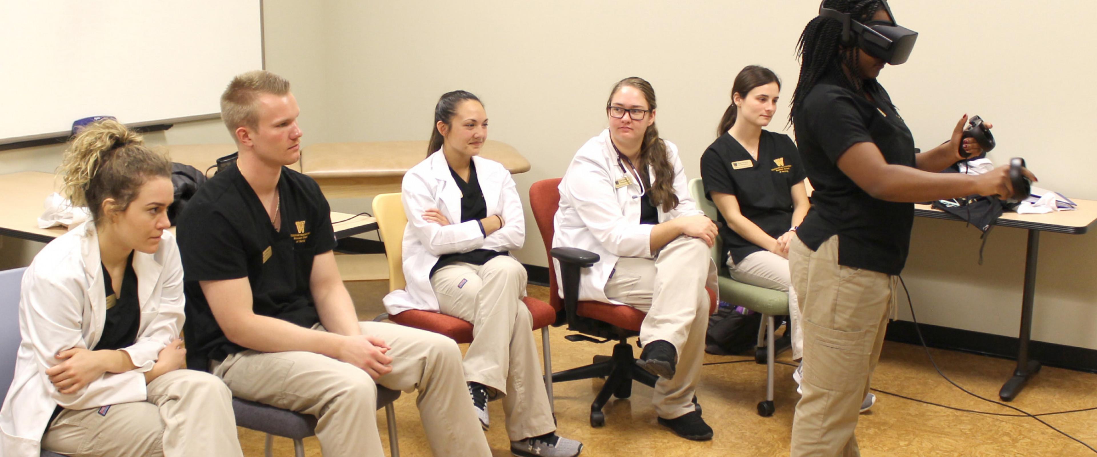 Nursing student virtual reality