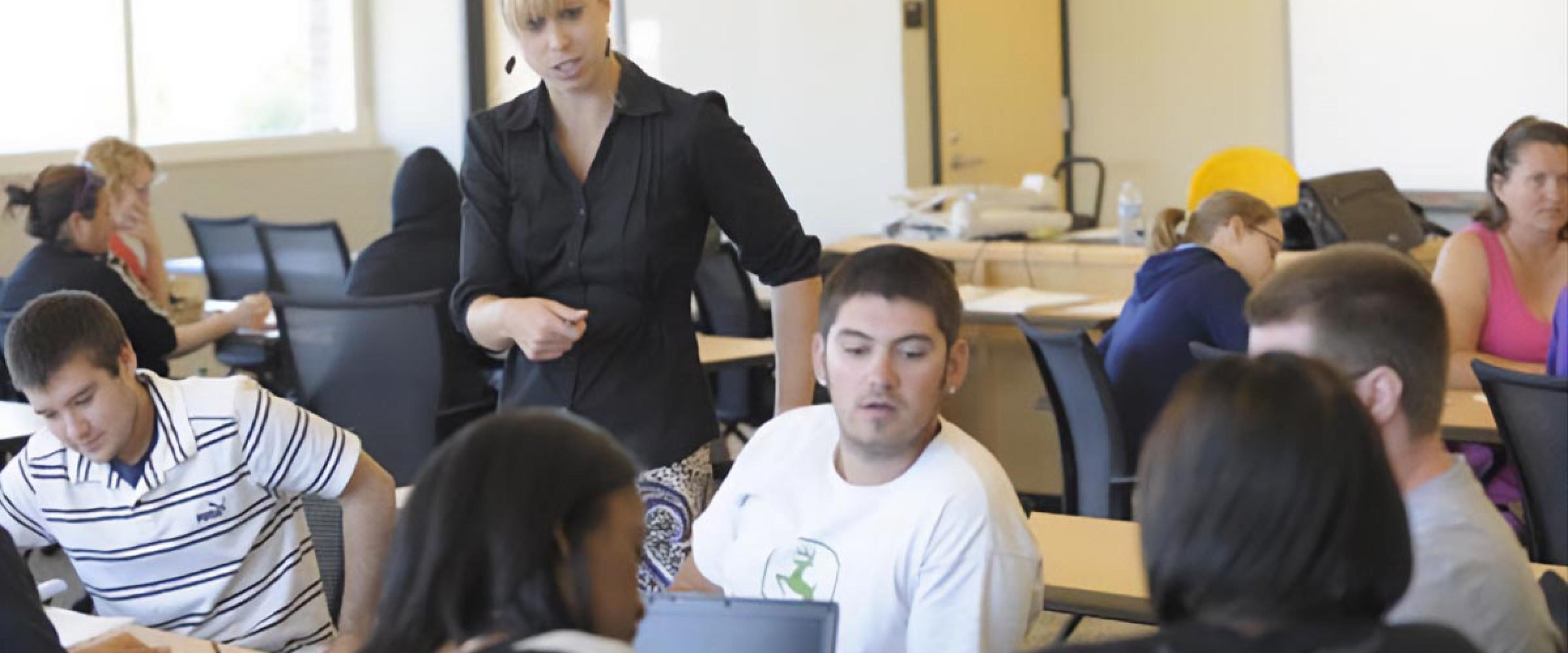 faculty in class