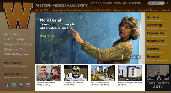 Photo of WMU home page
