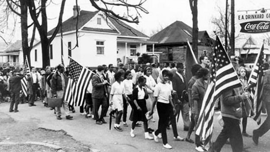 Photo of voting rights march.