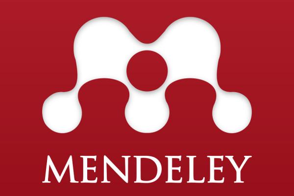 Mendeley logo.