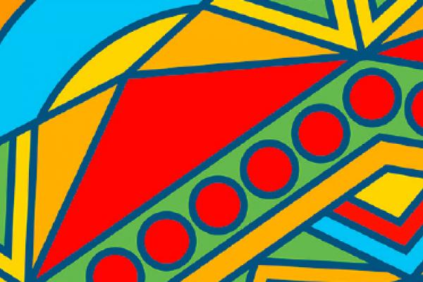 Latin graphic illustration design