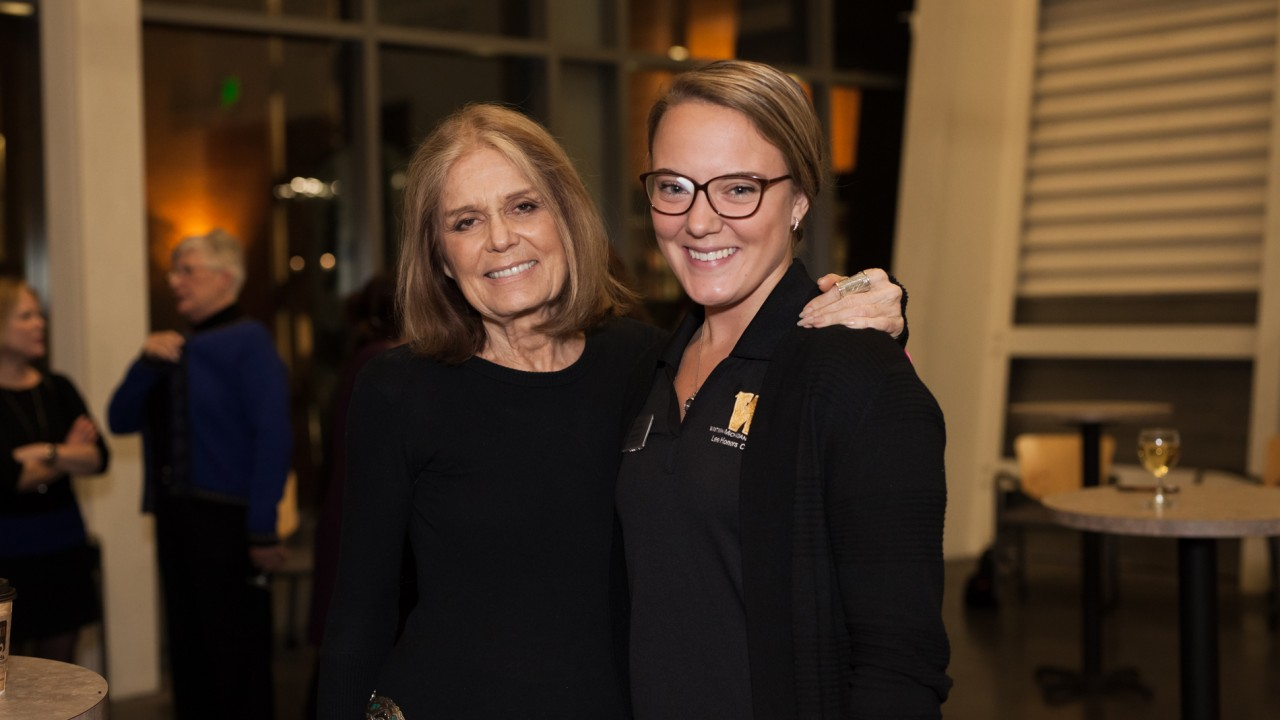 Gloria Steinem and Erin Caspers