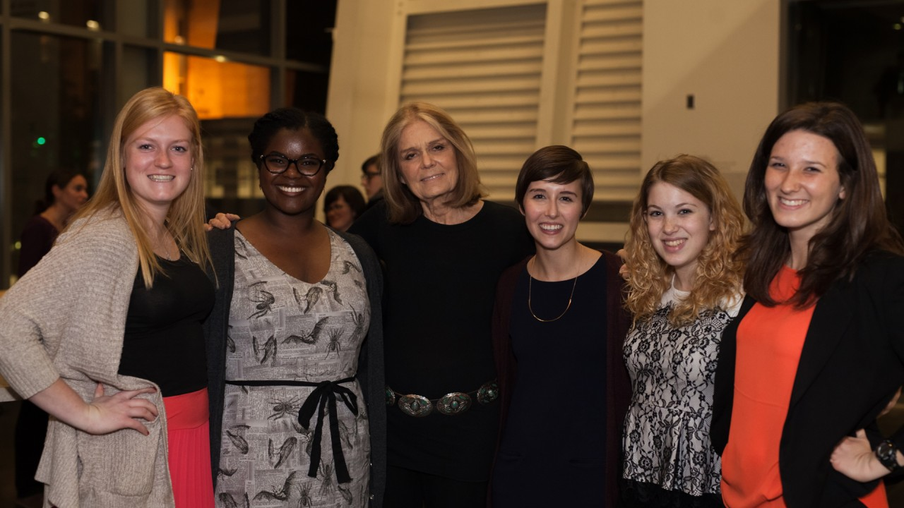 Gloria Steinem with Medallion Volunteers
