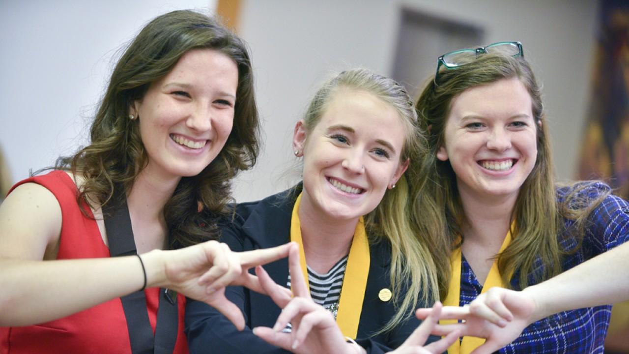 Three Female Medallion Scholars