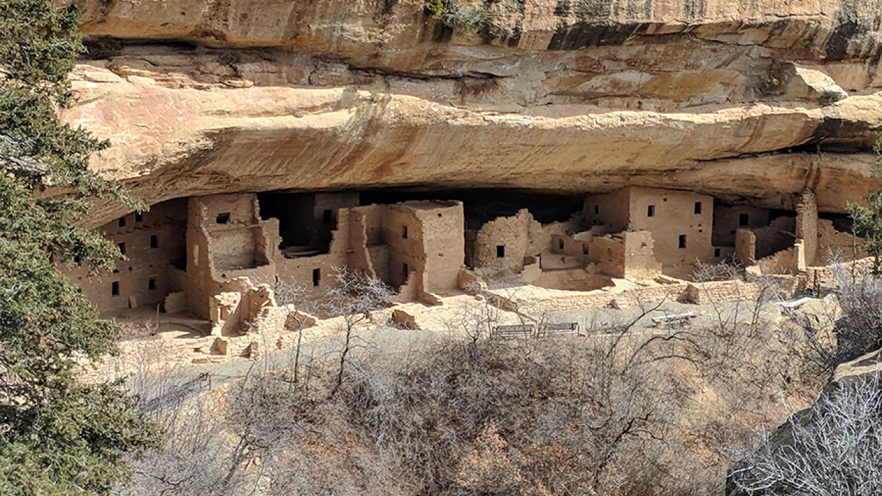 Anasazi dwellings as seen by honors students on the Desert Southwest trip.