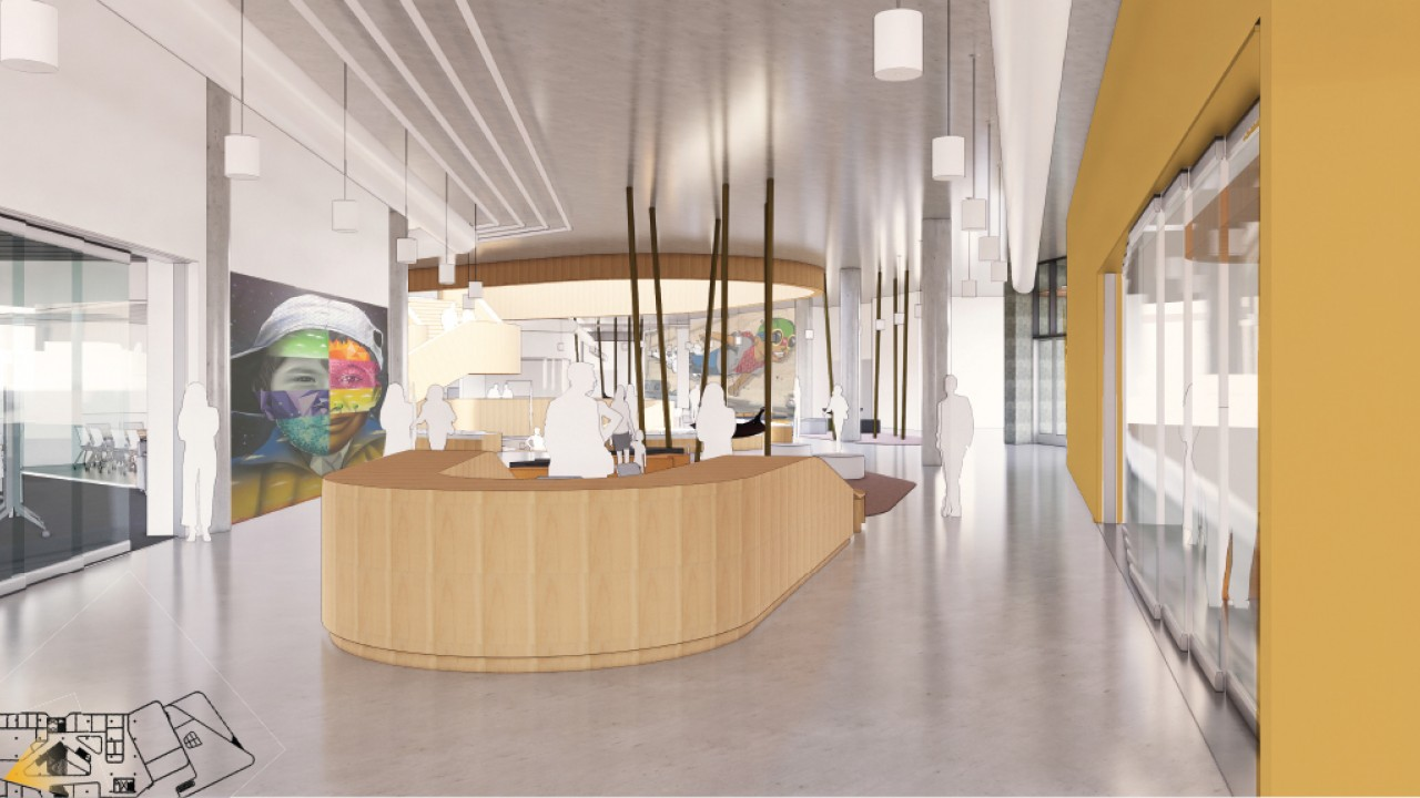 New Student Center Info Desk Rendering