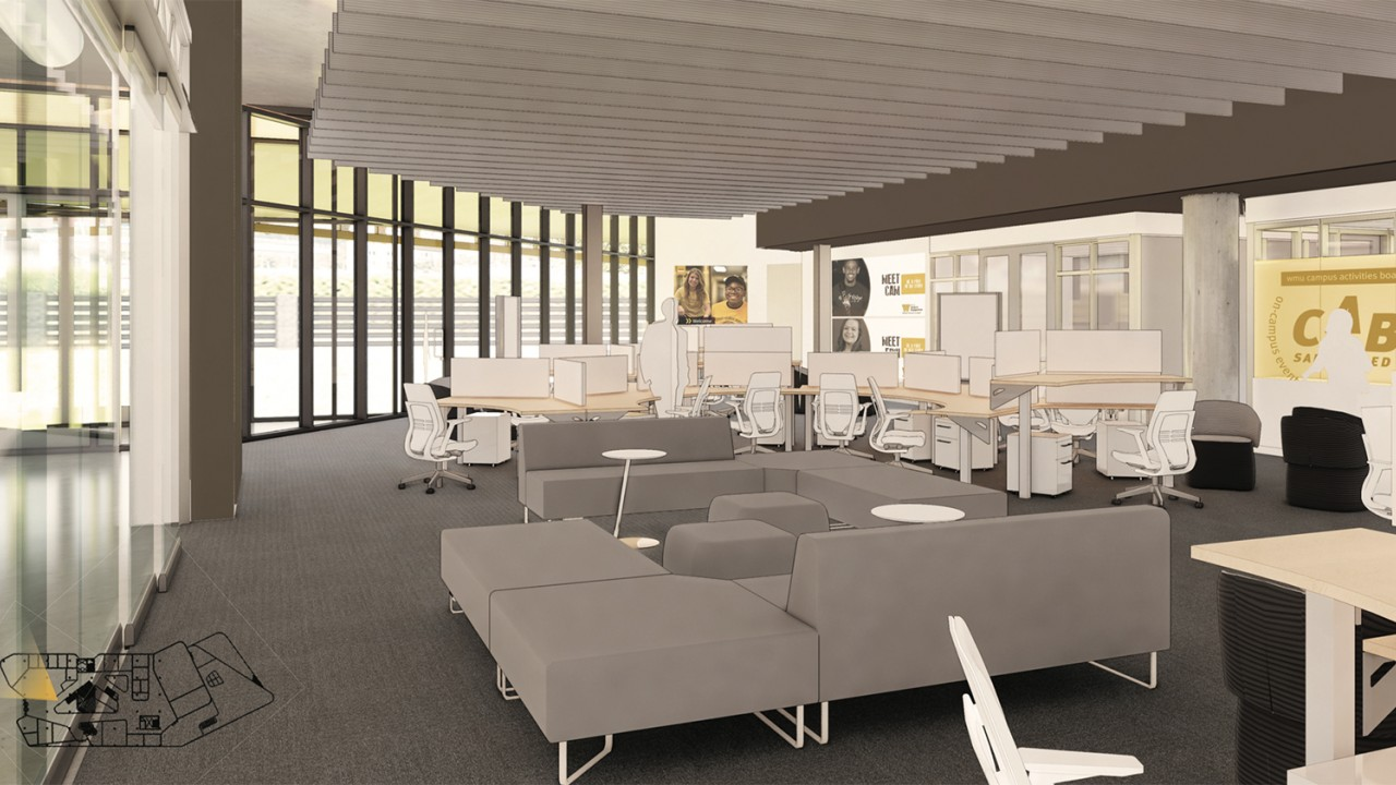 Student Organization Center in new Student Center