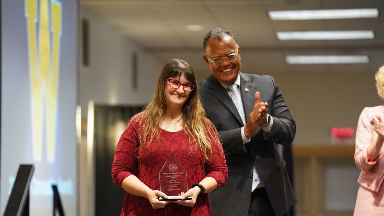 Shari Rose with WMU President Montgomery