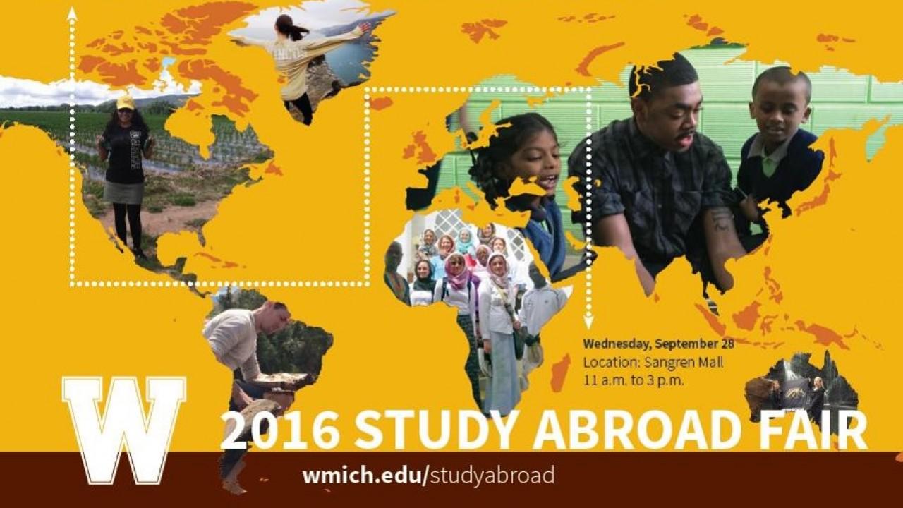 2016 Study Abroad Fair, Wednesday, Sept. 28