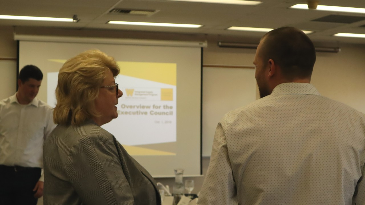 photo of participants talking